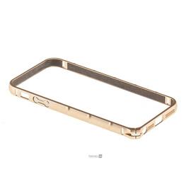 Бампер для iPhone 5/5S/SE Colorful Skin Ultra Thin Hard Shell Air Case (Gold), фото
