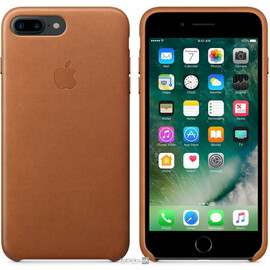 Apple iPhone 7 Plus Leather Case - Saddle Brown MMYF2, фото