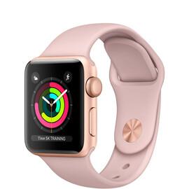 Apple Watch Series 3 (GPS) 38mm Gold Aluminum w. Pink Sand Sport B. - Gold (MQKW2), фото