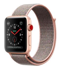 Apple Watch Series 3 (GPS + Cellular) 42mm Gold Aluminum w. Pink Sand Sport L. (MQK72), фото