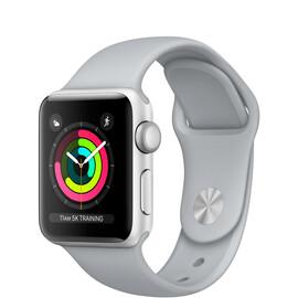 Apple Watch Series 3 (GPS) 38mm Silver Aluminum w. Fog Sport B. - Silver (MQKU2), фото