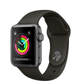 Apple  Watch Series 3 (GPS) 38mm Space Gray Aluminum w. Gray Sport B. - Space Gray (MR352), фото