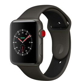 Смарт-часы Apple Watch Edition Series 3 (GPS + Cellular) 42mm Gray Ceramic w. Gray/Black Sport B. (MQKE2), фото