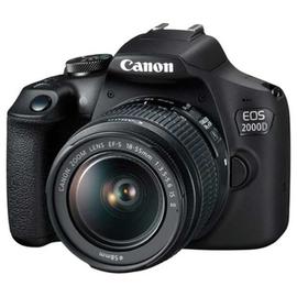 Зеркальный фотоаппарат Canon EOS 2000D kit (18-55) вид под углом
