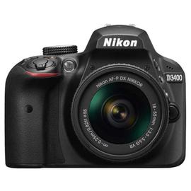 Зеркальный фотоаппарат Nikon D3400 kit (18-55mm VR) Black вид спереди