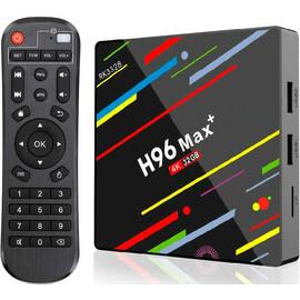 Приставка 4К Smart-TV Box H96 Max Plus 4/32GB вид с пультом управления