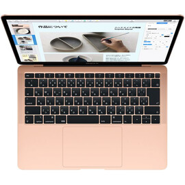 "Ноутбук Apple MacBook Air 13"" Gold 2018 (MREE2) вид сверху"