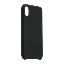 Silicone Case Coteetci black for iPhone X/XS view from the left side, without smartphone