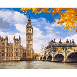"""Картина по номерам """"Осенний Лондон"""" 40х50см (КНО2134), фото"""