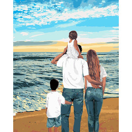"Картина по номерам ""Моя семья"" 40х50см (КНО4743), фото"