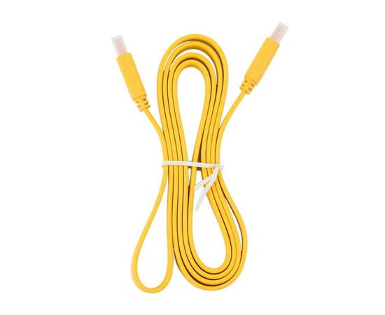 Кабель HDMI Cable flat (V1.4) HDMI/M to HDMI/M (Yellow) 5m, фото