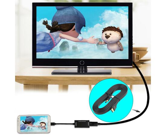 Кабель HDMI Cable flat (V1.4) HDMI/M to HDMI/M 1m (Black), фото , изображение 2