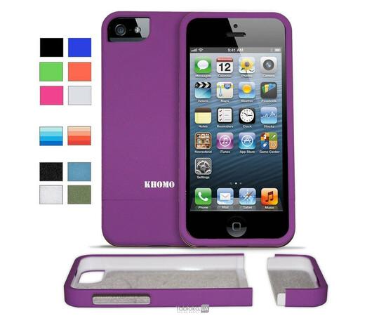 Чехол для iPhone 5/5S KHOMO Slider Case (Purple), фото