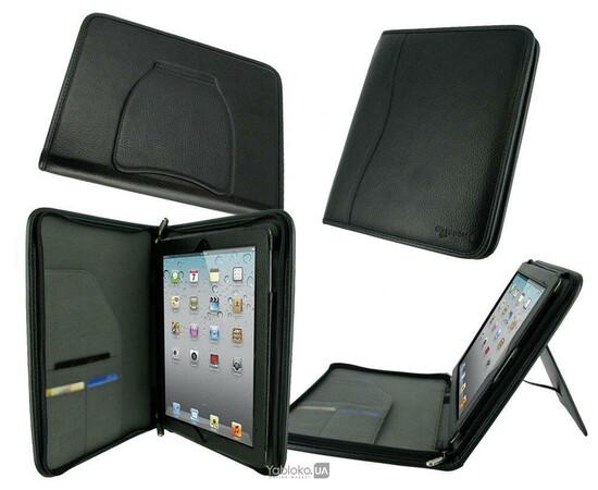 Чехол для iPad 3/4 rooCASE Executive Portfolio (Black), фото