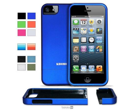 Чехол для iPhone 5/5S/SE KHOMO Slider Case (Blue), фото