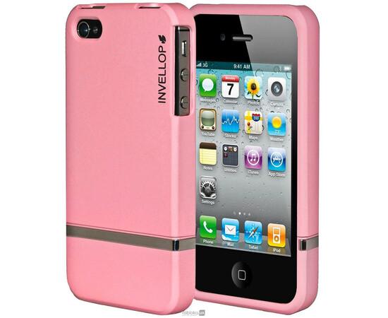 Чехол для iPhone 4/4s Invellop slider Case Hard Cover Bumper (Pink), фото