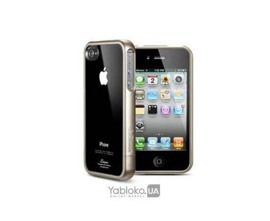 Чехол для iPhone 4/4S SGP Case Linear Crystal Series Champagne Gold (SGP07529), фото