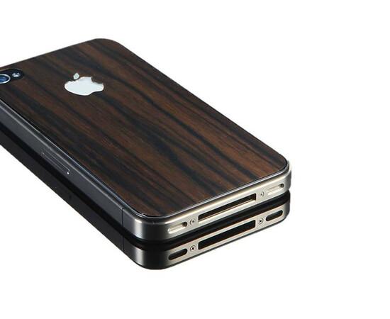 Защитная пленка для iPhone 4/4S SGP Skin Guard Wood Camagon Set Package (SGP06899), фото