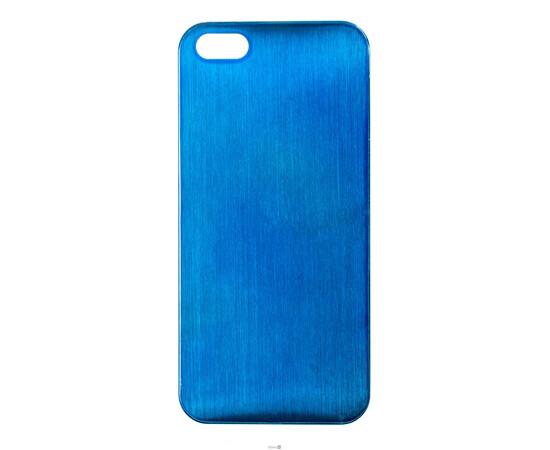 Чехол для iPhone 5/5S/SE Brushed Aluminum Case Slim Series 0.3 mm (Blue), фото