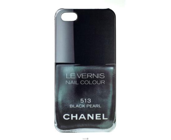 Чехол для iPhone 5/5S/SE Chanel Le Vernis Nail Colour №513 (Black Pearl), фото