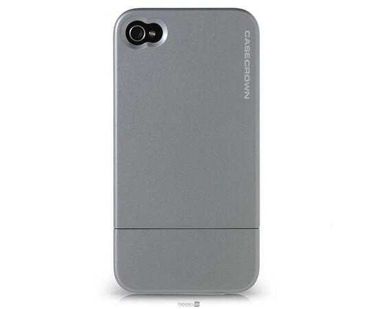 Чехол для iPhone 4/4S CaseCrown Metallic Glider (Silver), фото
