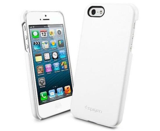 Чехол для  iPhone 5/5S/SE SGP Leather Grip Genuine (White) SGP09602, фото