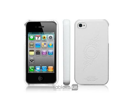 Чехол для iPhone 4/4S SGP Genuine Leather Grip Infinity White (SGP06901), фото