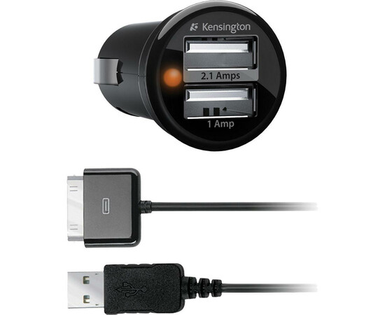 Автозарядка Kensington PowerBolt для iPad/iPhone/iPod, фото