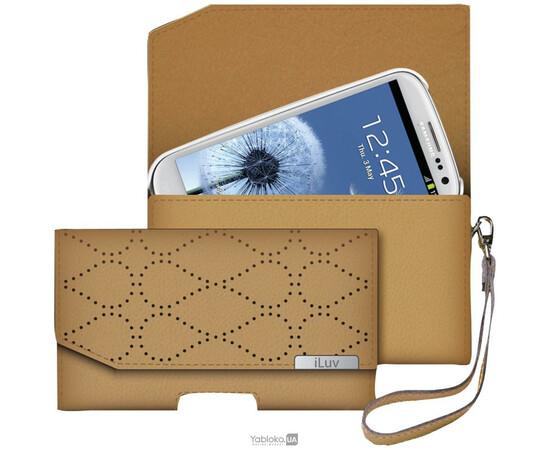 Чехол для iPhone 5/5S/SE iLuv Atelier Clutch Genuine Leather (Tan), фото