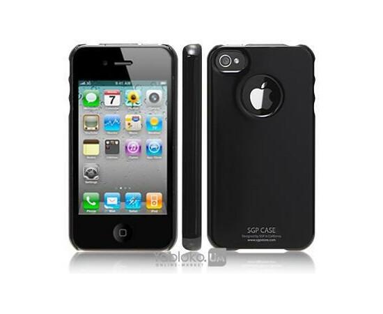 Чехол для iPhone 4/4S SGP Case Ultra Thin Pastel Series Soul Black (SGP06922), фото