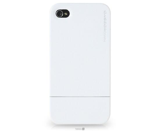 Чехол для iPhone 4/4S CaseCrown Metallic Glider (White), фото
