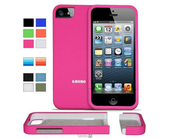 Чехол для iPhone 5/5S/SE KHOMO Slider Case (Pink), фото