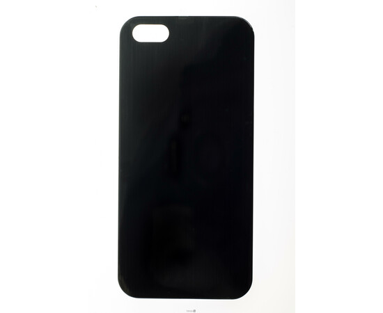 Чехол для iPhone 5/5S/SE Brushed Aluminum Case Slim Series 0.3 mm (Black), фото