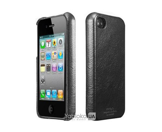 Чехол для iPhone 4/4S SGP Genuine Leather Grip Legend (Black), фото