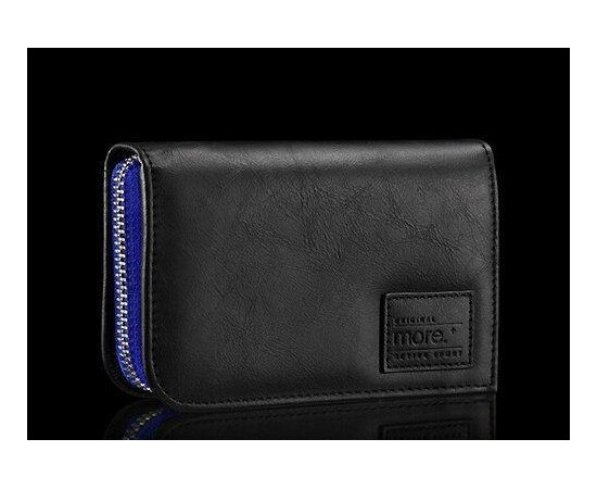 Чехол для iPhone 5/5S/SE More Carri Zipper Wallet Moonlight (Blue Black), фото