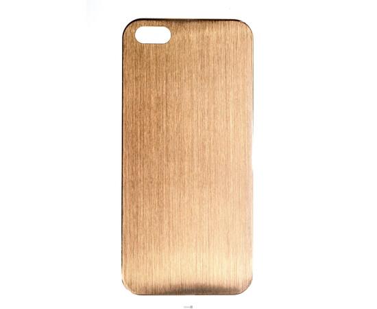 Чехол для iPhone 5/5S/SE Brushed Aluminum Case Slim Series 0.3 mm (Gold), фото