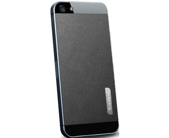 Защитная пленка для iPhone 5/5S/SE SGP Leather Pattepn (Black) SGP09568, фото