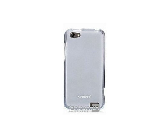 Чехол VPower Crystal Case for HTC One V (Clear White), фото