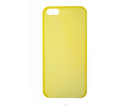 Чехол для iPhone 5/5S/SE Colorful Slim Series 0.3 mm (Yellow), фото