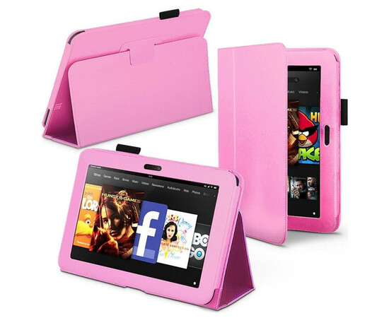 Чехол для Amazon Kindle 5 Acase Leather case (Pink), фото