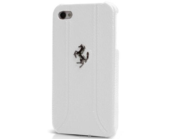 Чехол для iPhone 4/4S кожаный Scuderia Ferrari (White), фото , изображение 2