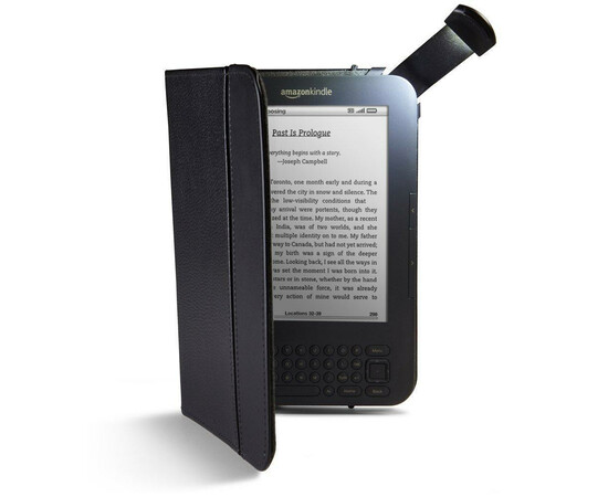 Чехол для Amazon Kindle 4 Touch Acase Leather case with backlight (Black), фото