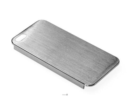 Чехол для iPhone 5/5S/SE Brushed Aluminum Case Slim Series 0.3 mm (Silver), фото , изображение 2