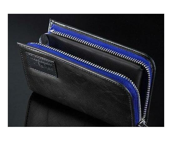 Чехол для iPhone 5/5S/SE More Carri Zipper Wallet Moonlight (Blue Black), фото , изображение 2