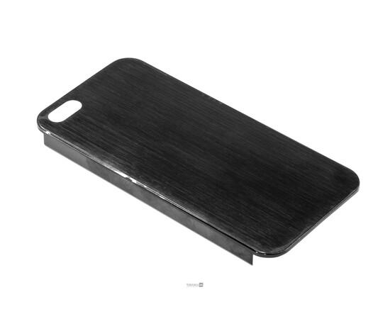 Чехол для iPhone 5/5S/SE Brushed Aluminum Case Slim Series 0.3 mm (Black), фото , изображение 2