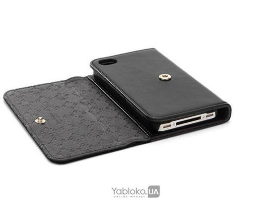 Чехол для iPhone 4/4S SGP Leather Case Ava Karen Black (SGP08523), фото , изображение 2