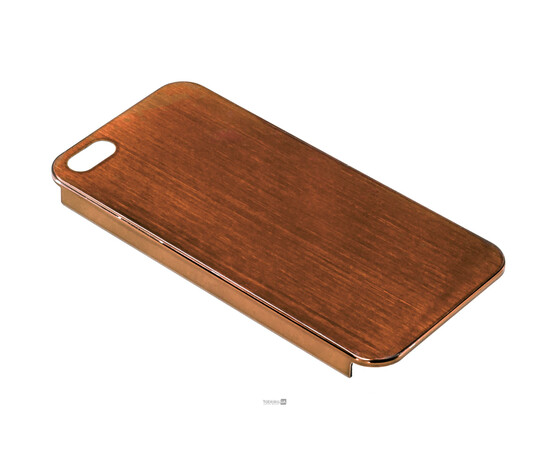 Чехол для iPhone 5/5S/SE Brushed Aluminum Case Slim Series 0.3 mm (Brown), фото , изображение 2