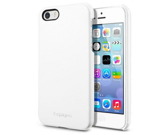 Чехол для  iPhone 5/5S/SE SGP Leather Grip Genuine (White) SGP09602, фото , изображение 2