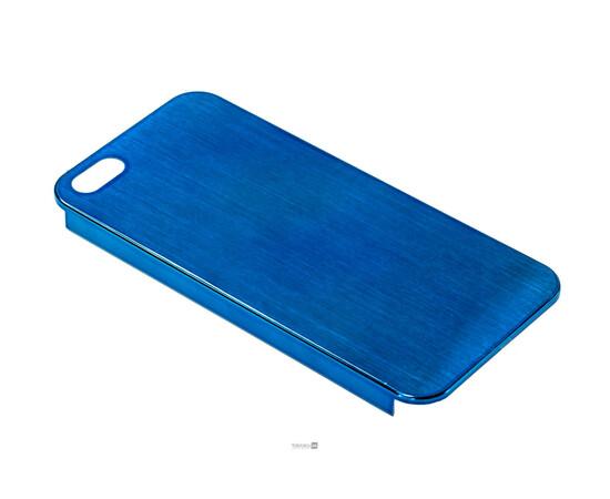 Чехол для iPhone 5/5S/SE Brushed Aluminum Case Slim Series 0.3 mm (Blue), фото , изображение 2