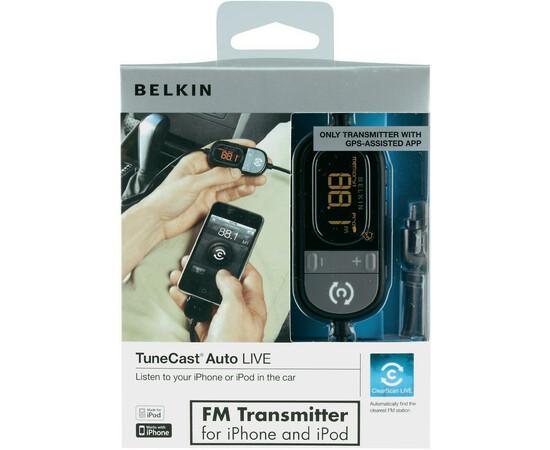 Автомобильное зарядное устройство FM-трансмиттер Belkin TuneCast Auto Livei для Pod/iPhone, фото , изображение 2